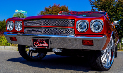 1970 Chevy Chevelle Chrome Bentley Dual Weave Mesh Grille
