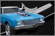 1972 chevy monte carlo chrome bentley mesh grille