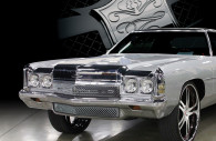 1972 chevy impala chrome mesh grille