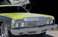 1973 chevy impala chrome mesh grille