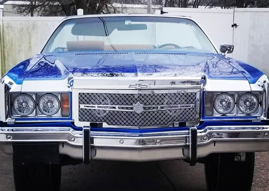 caprice chrome 1974 chevy grille mesh weave bentley dual grill grilles box impala