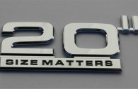 20 inch size matters chrome wheel emblem badge