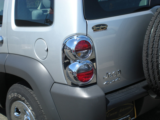 Jeep Liberty Chrome Tail Light Bezel Trim