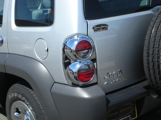 Jeep Liberty Chrome Tail Light Bezel Trim Covers