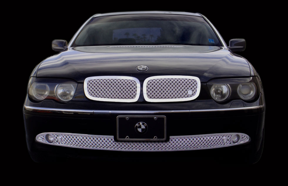 Bmw 745i 745li Chrome Bentley Dual Weave Mesh Grille