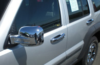 jeep liberty chrome mirror and handle cover trim