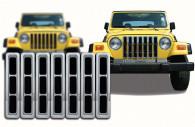 jeep wrangler chrome grille insert trim