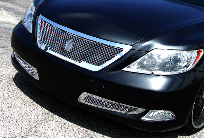 Lexus Ls460 Chrome Bentley Dual Weave Mesh Grille
