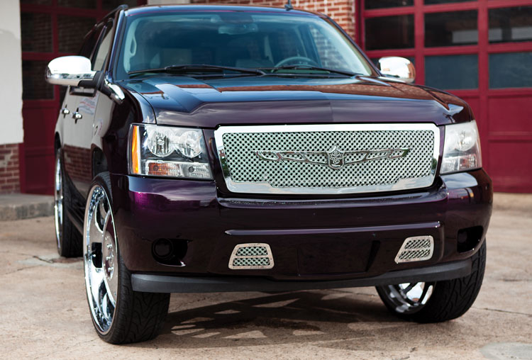 Chevy Tahoe Avalanche Chrome Bentley Dual Weave Mesh Grille