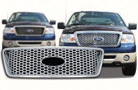 ford f150 honeycomb style chrome grille insert