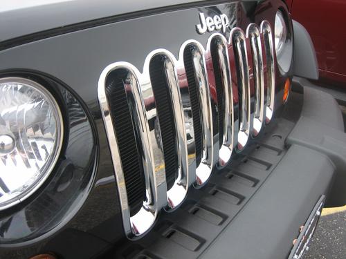 (07-2017) Jeep Wrangler Chrome Grille Insert Overlay Trim