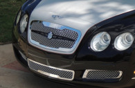 2009 bentley flying spur chrome mesh grille