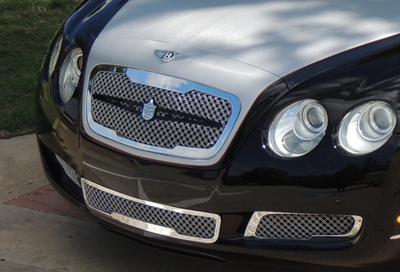 bentley flying spur chrome bentley dual weave mesh grille