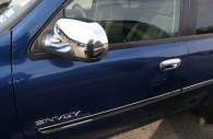 gmc envoy chrome mirror and door handle cover trim