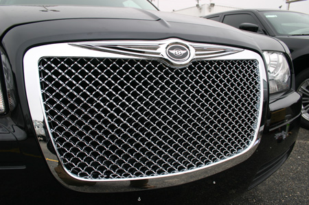 Chrysler 300 Chrome Bentley Mesh Grille W Bentley Winged