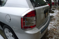 jeep compass chrome tail light bezel trim