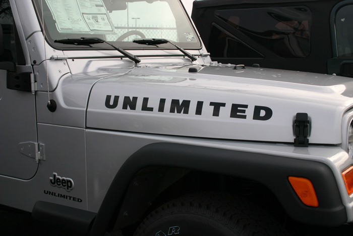 Jeep Wrangler Unlimited Vinyl Graphic Decal