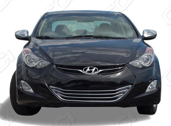 2011 2017 Hyundai Elantra Chrome Grille Insert Overlay Trim