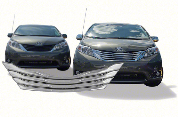 2012 Chrysler 300 For Sale >> 2011-2016 Toyota Sienna Chrome Grille Insert Overlay Trim