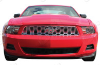 2013 ford mustang chrome mesh grille insert trim