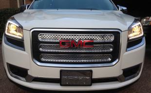 2014 gmc acadia chrome mesh grille insert trim