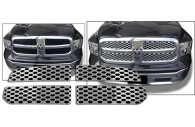 2014 dodge ram with chrome mesh grille insert installed