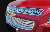 chevy malibu chrome bentley mesh grille insert