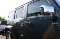 jeep wrangler chrome mirror and handle cover trim