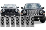 2013 jeep patriot chrome mesh grille insert