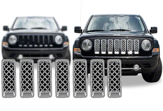 2014 Jeep Patriot For Sale >> Jeep Patriot Chrome Grille Insert Overlay Trim (2011-2016)