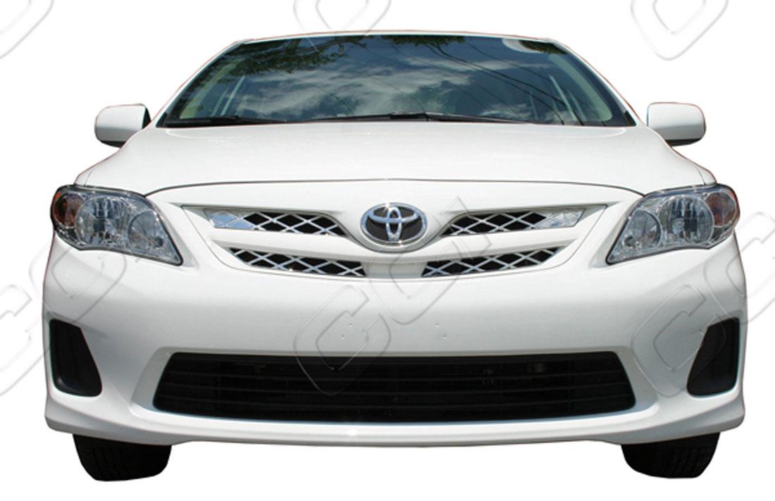 Toyota Corolla Chrome Grille Insert Overlay Trim