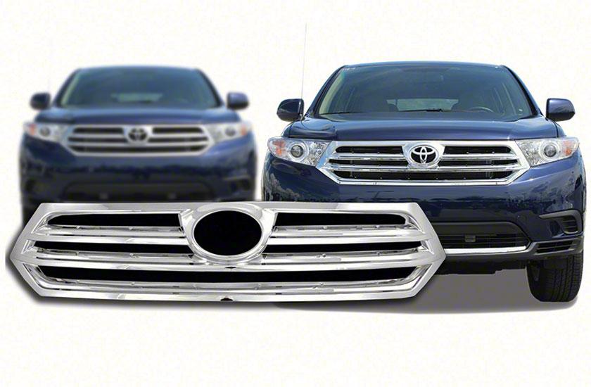 2011 Toyota Tundra Grade >> Toyota Highlander Chrome Grille Insert Overlay Trim (2011 ...