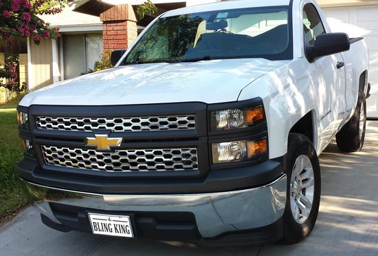 2014 2015 Chevy Silverado Chrome Mesh Grille Insert
