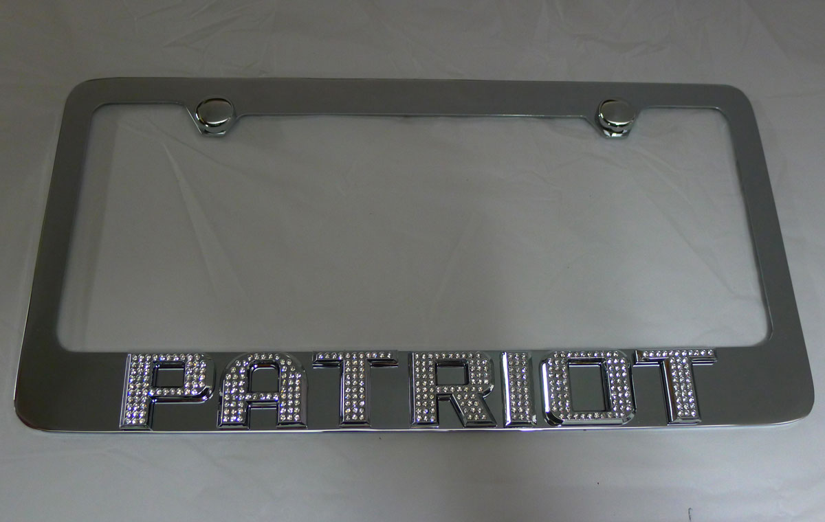 2014 jeep patriot chrome stainless steel license plate frame iced out. Cars Review. Best American Auto & Cars Review