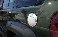 dodge caliber chrome fuel door cover