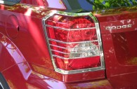 dodge caliber chrome tail light bezels