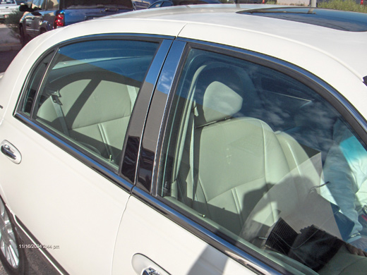 Lincoln Town Car Chrome Pillar Post Trim