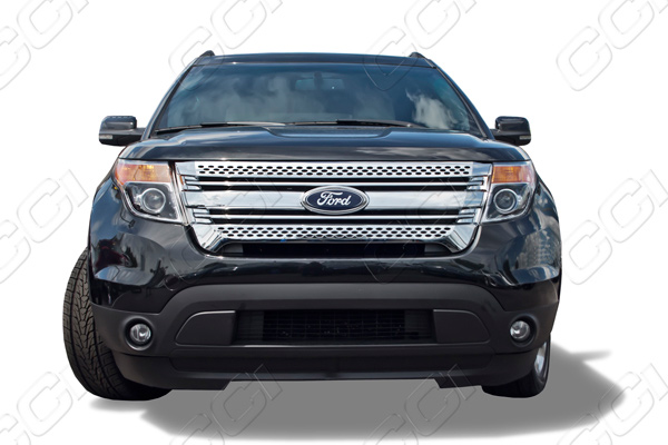 Ford Explorer Chrome fuel door gas cap petro cover 2011 2012 2013