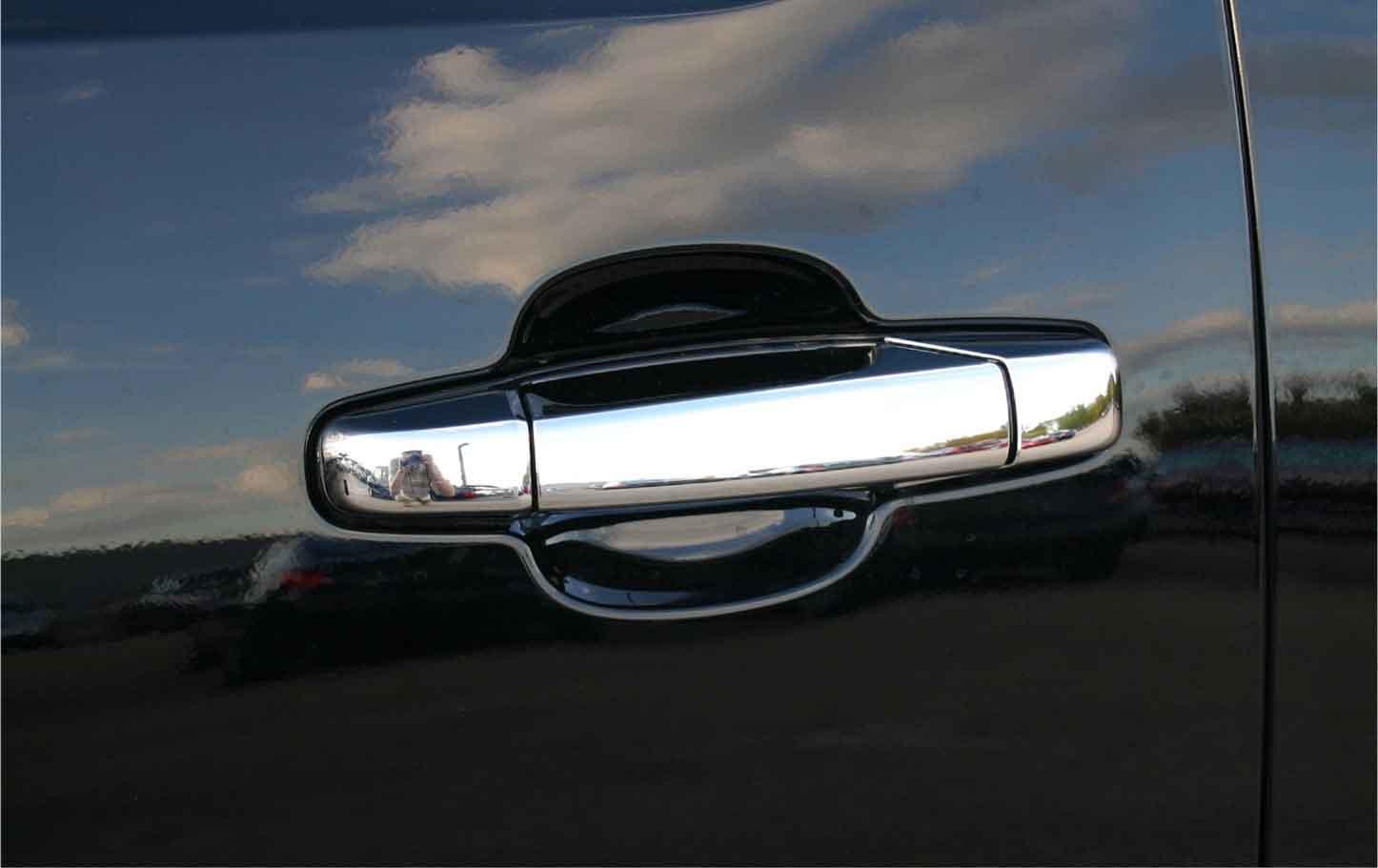 ... gmc yukon chrome door handle cover trim ... & GMC Yukon Chrome Door Handle / Mirror Cover Trim Package Pezcame.Com