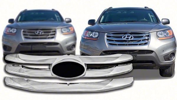 Hyundai Santa fe Black Grill Hyundai Santa fe Chrome Grille