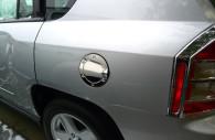 jeep compass chrome fuel door gas cap cover trim