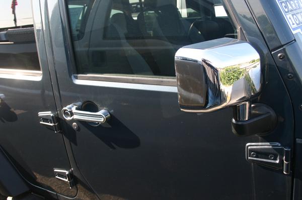 07 2017 Jeep Wrangler Chrome Door Handle Mirror Cover