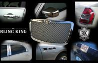 chrysler 300 chrome grille kit with chrome mirror handle fuel door covers pillar post trim port holes