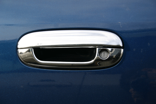 gmc envoy chrome mirror and door handle cover trim chevy trailblazer chrome mirror cover trim ... & Chevy Trailblazer Chrome Door Handle / Mirror Cover Trim Package