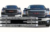 gmc sierra 2500 3500 chrome grille insert