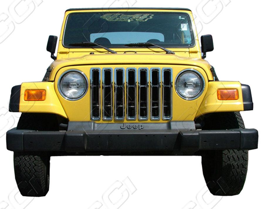 2014 Jeep Wrangler Warranty >> Jeep Wrangler Chrome Grille Insert Overlay Trim