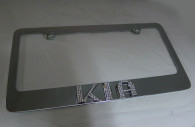 kia optima chrome iced out emblem license plate frame
