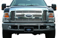 2010 ford superduty chrome grille insert trim