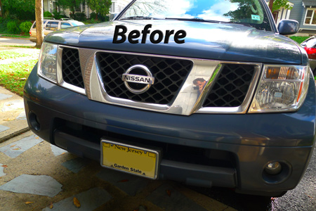 Nissan Frontier Chrome Grille Insert Overlay Trim