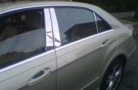 mercedes benz e class chrome pillar post trim